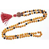 BUDDHIST 108 Mala Beads Garnet Rudraksha Meditation Japamala Healing Yoga Necklace