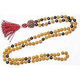 BUDDHIST 108 Mala Beads Garnet Rudraksha Meditation Japamala Healing Yoga Necklace