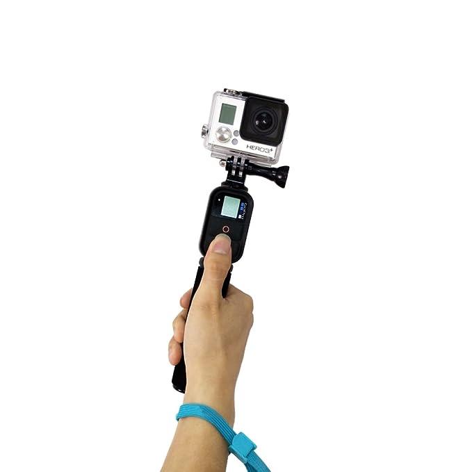 Andoer® Monopod Empuñadura Apretón con Control remoto inalámbrico Wi-Fi Extensible Remoto de mano para GoPro HD Hero Cámara 3 3 + (A con el Control Remoto): ...
