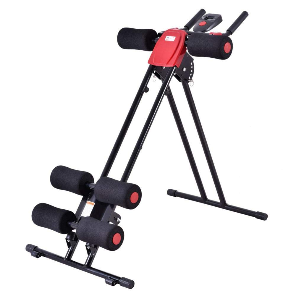 Rainrain27 Straight Linear Type Powerful Private Fitness Club Abdomen Exerciser Vertical Abdominal Machine Beauty Waist Machine for Office Home Black and Red by Rainrain27 (Image #2)
