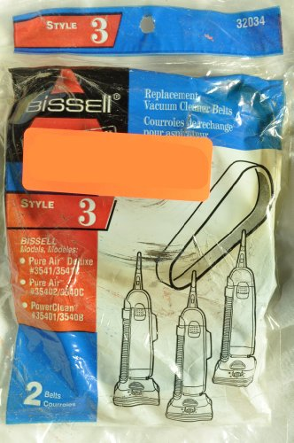 Bissell Upright Vacuum Cleaner Style 3 Belt, Fits: Models...