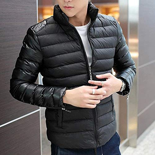 Allywit Men Fashion Stand Collar Zipper Warm Cotton Winter Thick Coat Jacket by Allywit (Image #3)