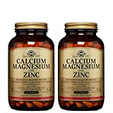 Solgar – Calcium Magnesium Plus Zinc, 250 Tablets, 2 Pack - Supports Bone Health and Nerve and Muscle Function