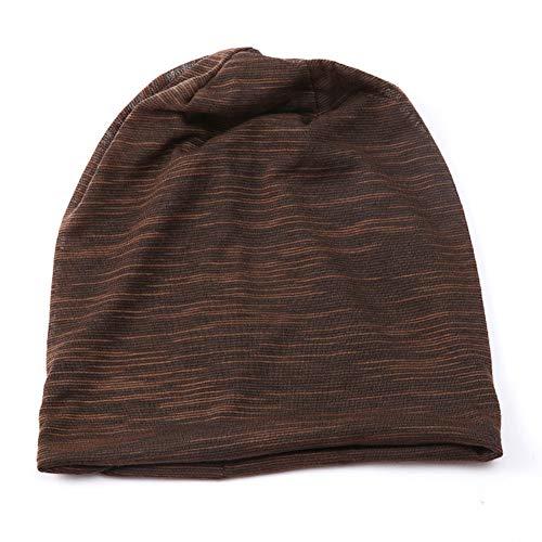 otoño e café Gorro Punto para de Invierno marrón algodón Transpirable Hombre Café elástico VelvxKl Sg8qxBTw