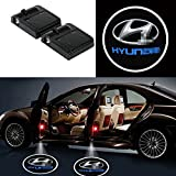 hyundai emblem led - 2Pcs Wireless Universal Car Projection LED Projector Door Shadow Light Welcome Light Laser Emblem Logo Lamps Kit For Hyundai, No Drilling Required
