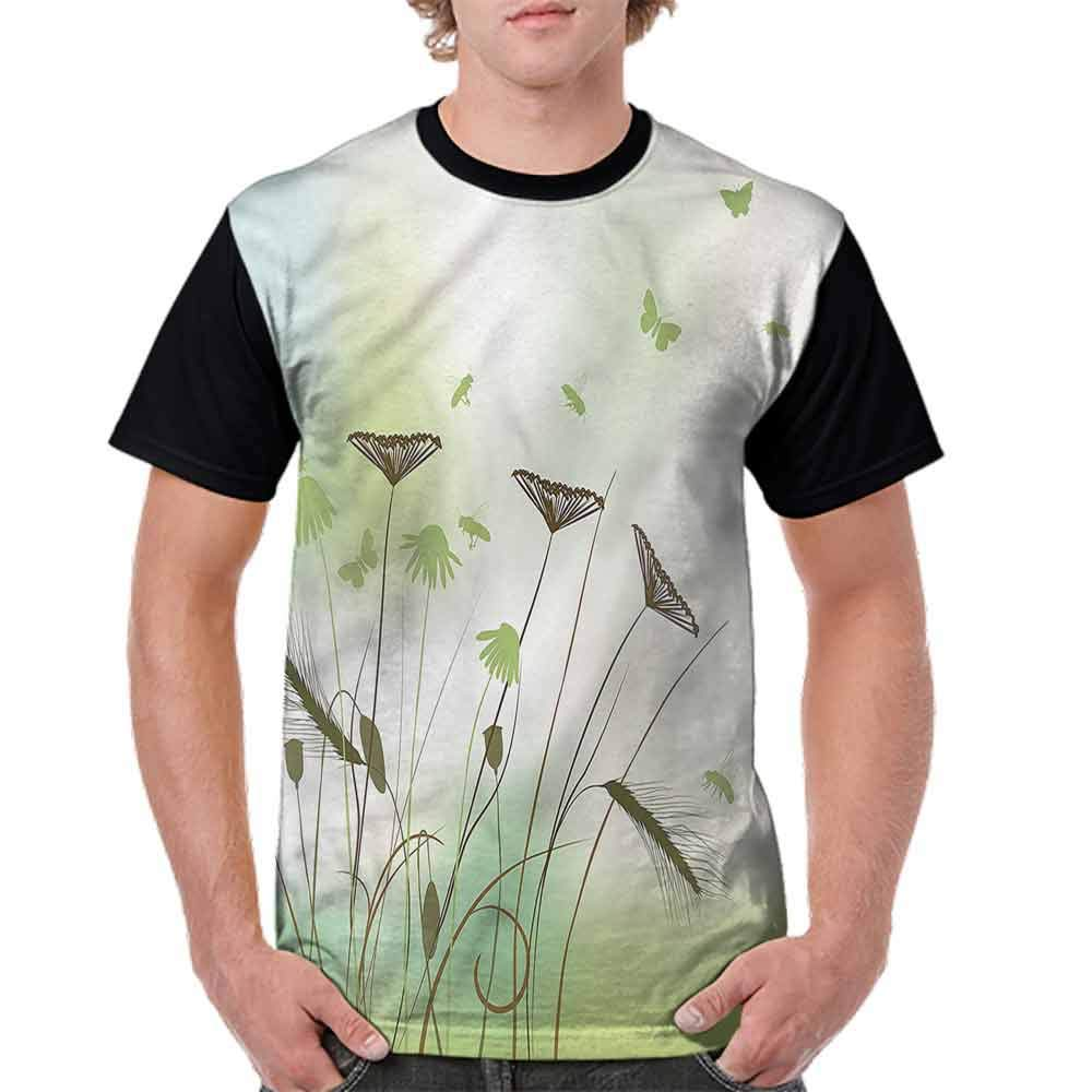 BlountDecor Fashion T-Shirt,Dragonflies Bees Flying Fashion Personality Customization