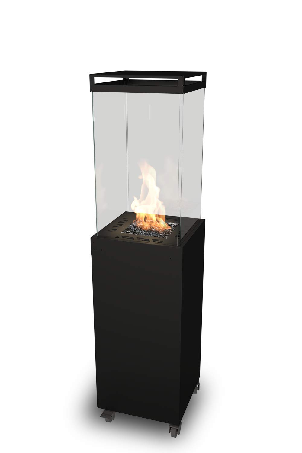 Planika Lighthouse (Black) - Freestanding Portable Outdoor Gas Patio Heater - 55 Hours Burning Time, 10kW Heat Output - Patio and Garden Accessories - Home Gift Ideas