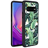 Samsung Galaxy S10+ Case Tropical Palm Leaves Reinforced Drop Protection Hard PC Back Flexible TPU Bumper Protective Case