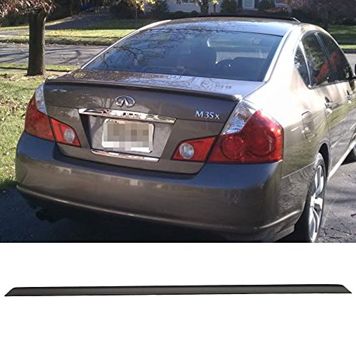 Trunk Spoiler Fits 2005-2010 Infiniti M35 M45 4Dr 4Door | Unpainted Black PU - Other Color Available Rear Roof Tail Spoiler Wing by IKON MOTORSPORTS | 2006 2007 2008 2009