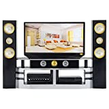 Asiv Mini Hi-Fi TV Home Theater Cabinet Combo Set for Barbie Doll Accessories House Furniture Baby Toys