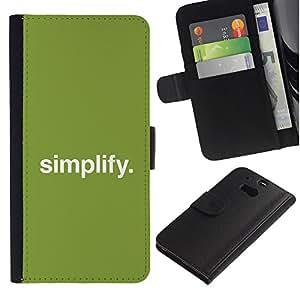 YiPhone /// Tirón de la caja Cartera de cuero con ranuras para tarjetas - Simplificar - HTC One M8