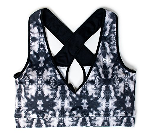 Nfinity Sports Bra Black/Gray Prism- L