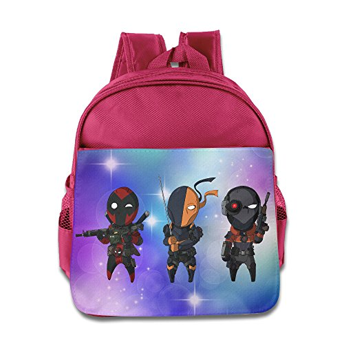 [Deadpool Deadshot Deathstroke Kids School Pink Backpack Bag] (G String Halloween Costumes)