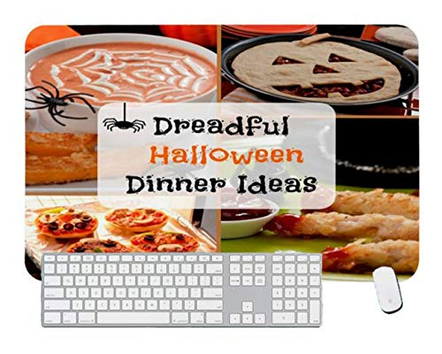 Gaming Mouse Pad Dreadful Halloween Dinner Ideas for Desktop and Laptop 1 Pack 1000x500x3mm/39.4x19.7x1.1 in