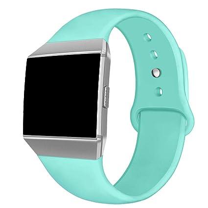 Kmasic Compatible Fitbit Ionic Correas, Correa Deportiva de Silicona Suave Reemplazo Transpirable Pulseras para Fitbit Ionic Smart Watch, Mujer ...