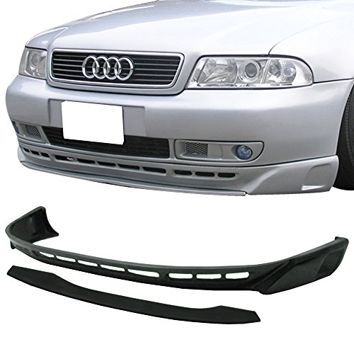(Front Bumper Lip Fits 1996-2001 AUDI A4 | Euro Style PU Black Front Lip Spoiler Splitter Air Dam Chin Diffuser Add On by IKON MOTORSPORTS | 1997 1998 1999 2000 )