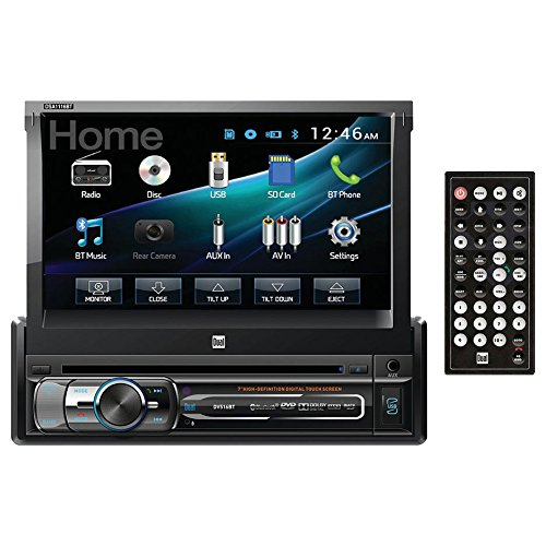 "Dual DVD Multimedia Receiver with Bluetooth 7"" Flip-out Touch Screen Display"