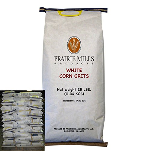 Prairie Mills White Corn Grits - 80 bags - 25 lb. each by MegaDeal
