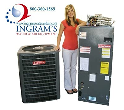 Goodman R410A 14 SEER Complete Split System Heat Pump 4 Ton SSZ140481, ARUF48D14, TXV5N4