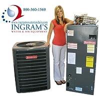 Goodman 3 Ton 15 SEER R410A Complete Split System Heat Pump SSZ140361, ASPT42D14