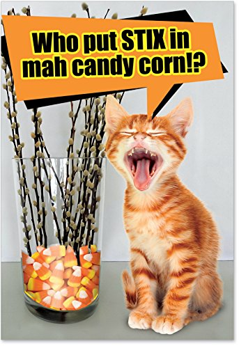 1203 S In Candy Corn Naughty Humor Halloween Greeting Card with Envelope