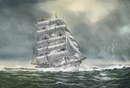 USCGC Eagle Sailing Ship Fine Art Print 16 X 20