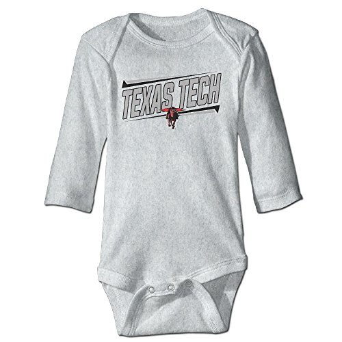 Texas Tech Red Raiders Lady Raiders Teams Kids Baby Long-sleeve Jumpsuit Ash