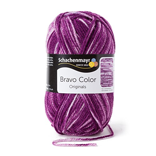 Schachenmayr  Bravo Color 9801421-02112 violett denim Handstrickgarn, Häkelgarn