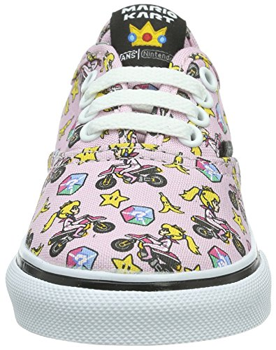 Vans Unisex Baby Authentic Krabbelschuhe Pink ((Nintendo) Princess Peach/motorcycle)
