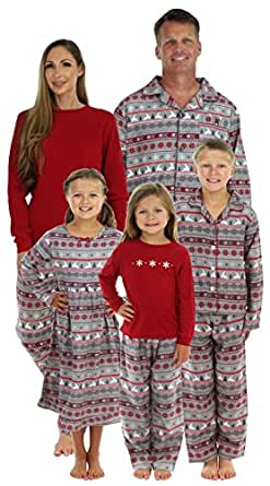 SleepytimePjs Family Matching Christmas Nordic Pajamas PJs Sets for the Family Girls Nightgown(STM1-NOR-K-3501-2)