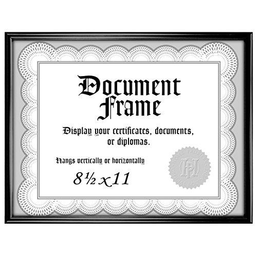 Malden International Designs Home Profiles Metro Black Document Frame, 8.5x11, Black
