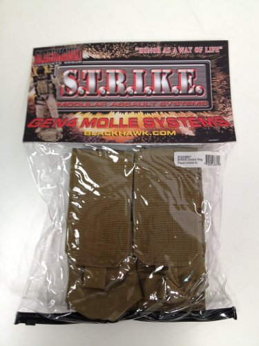 BLACKHAWK STRIKE MODULAR ASSAULT SYSTEM 4 MAG POUCH 2x2 HOLDS 4 MAGS COYOTE NEW