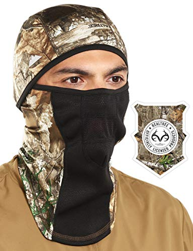 Tough Headwear Balaclava with Realtree Edge Camo Face Mask - Windproof Ski Mask - Cold Weather Face Mask for Hunting, Fishing, Camping, Skiing, Motorcycling & Winter ()