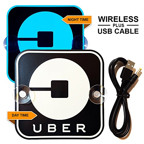 UBER CAR Light Wireless LED Light Sign with Suction Cups for Car Windshield by Uber Light