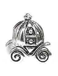 .925 Sterling Silver Princess Pumpkin Carriage Coach Bead For Pandora European Charm Bracelets