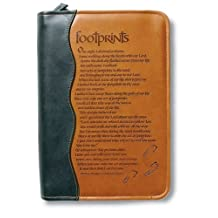 Italian Duo-Tone Footprints LG Book and Bible Cover
