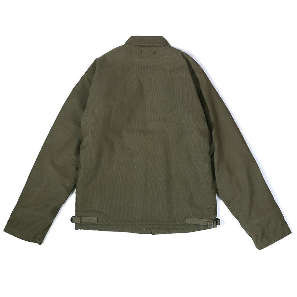GFDHHNN A-2 Deck Jacket Navy Deck Suit Thick Jacket Mens N-1 Coat