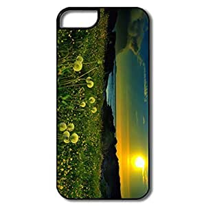 Cute Beach Meadow Pc Case Cover For IPhone 5/5s