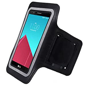 ArmBand Workout Case Cover For LG G4 H815 Black with Free Pouch