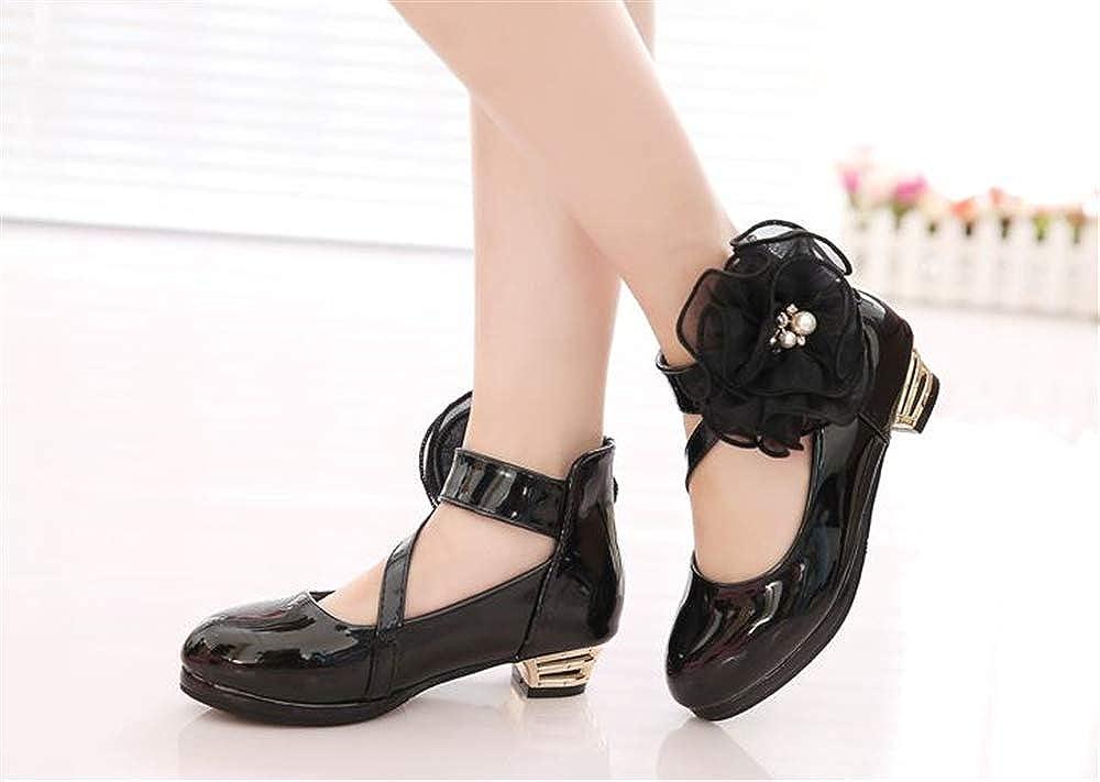 Rose town Pretty Little//Big Girls Cute Ballet Ballerina Flats Princess Shoes with Flower