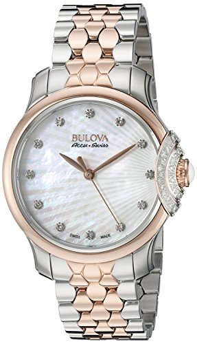 Bulova Accu Swiss Women's 65R164 Diamond Two Tone Watch
