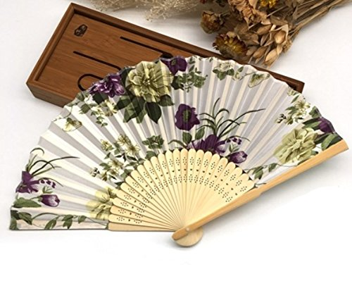Beige Green 30Pcs/Lot Engraving Name And Date On The Rib For Wedding Souvenir Beauty Fabric Hand Fans by Hand Fan