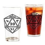 beer artwork - CafePress - D20 - Pint Glass, 16 oz. Drinking Glass