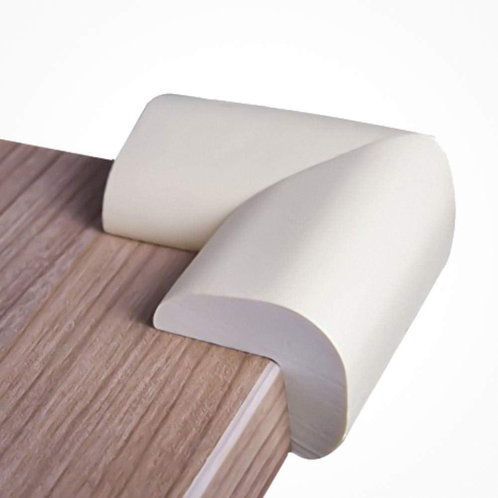 color blanco talla m/ás grande y adherencia de silicona 12 unidades Protectores de esquinas para ni/ños m/ás potente