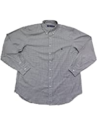 Men's Big and Tall Button-Down Pony Logo Shirt