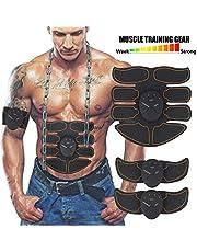 Moonssy Elettrostimolatore Muscolare, EMS Suscolo Addominale, Addominali Attrezzi ABS, Addome/Braccio/Gambe/Waist/Glutei Massaggi-Attrezzi -Uomo/Donna