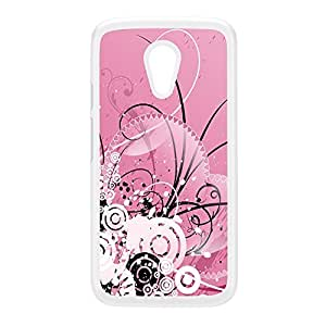 Bath of Pink White Hard Plastic Case for Moto G2 by Fernando Garza + FREE Crystal Clear Screen Protector