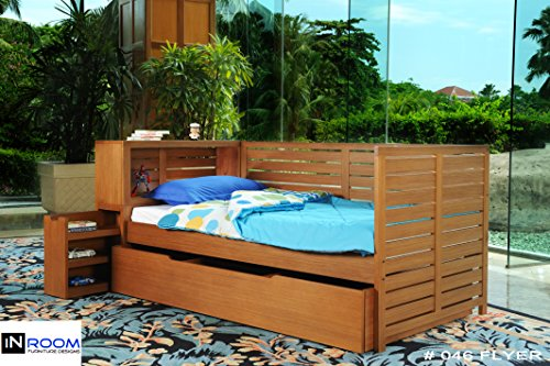 InRoom Designs Honey Finish Solid Wood D - Solid Wood Daybed Shopping Results