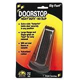 Master Caster 00920 Big Foot Doorstop, No Slip Rubber Wedge, 2 1/4w x 4 3/4d x 1 1/4h, Brown