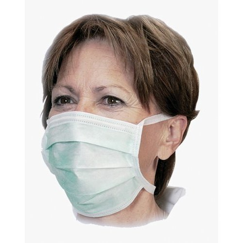 Disposable Flu Anti Earloop Non-woven Masks 50x Surgical Face Swine